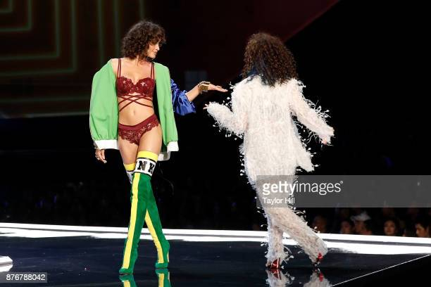 Alanna Arrington walks the runway during the 2017 Victoria's Secret Fashion Show at MercedesBenz Arena on November 20 2017 in Shanghai China