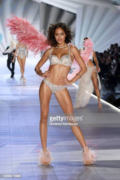 Alanna Arrington walks the runway during the 2018 Victoria's Secret Fashion Show at Pier 94 on November 8 2018 in New York City