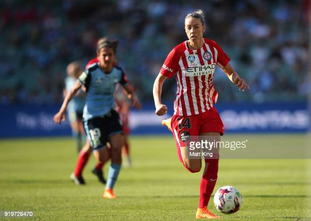 Alanna Kennedy of Melbourne City controls the ball during the WLeague Grand Final match between Sydney FC and Melbourne City FC at Allianz Stadium on...