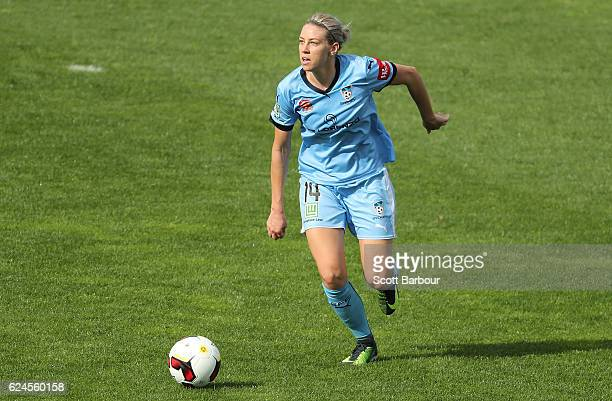 Alanna Kennedy of Sydney FC controls the ball during the round three WLeague match between the Melbourne Victory and Sydney FC at Lakeside Stadium on...