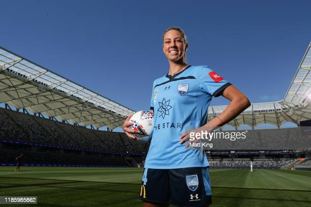 Alanna Kennedy of Sydney FC poses during the W-League 2019/20 Season Launch at Bankwest Stadium on November 07, 2019 in Sydney, Australia.
