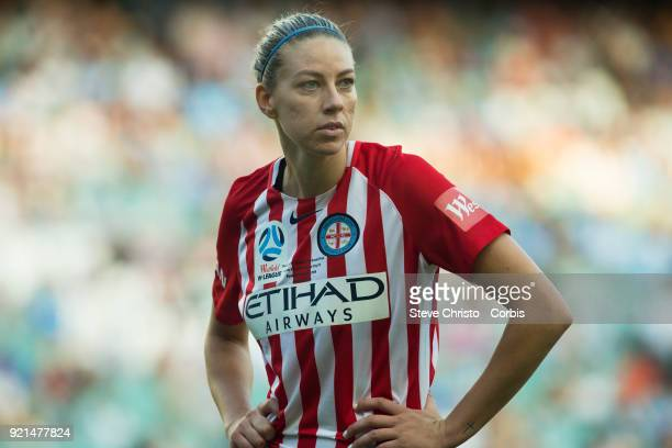 Alanna Kennedy of the Melbourne City waits for a corner during the WLeague Grand Final match between the Sydney FC and the Melbourne City at Allianz...