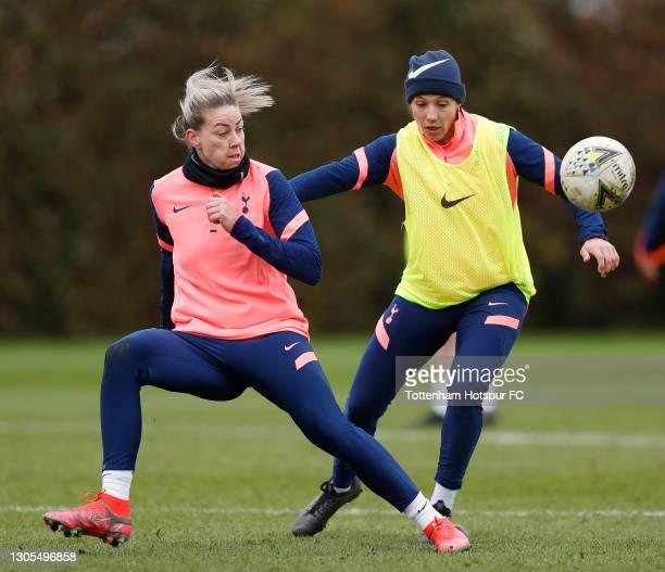 Alanna Kennedy of Tottenham Hotspur Women during the Tottenham Hotspur Women training session at Tottenham Hotspur Training Centre on March 05, 2021...