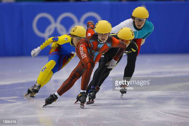 Alanna Kraus of Canada competes in the women's 1000m speed skating final during the Salt Lake City Winter Olympic Games on February 23 2002 at the...