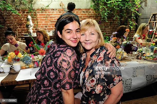 Alanna Masterson and Carol Masterson attend the Alexandra Breckenridge Baby Shower on June 18 2016 in Los Angeles California