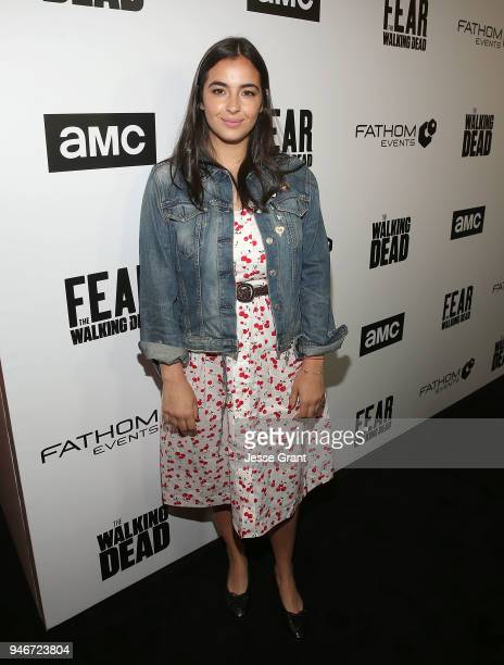 Alanna Masterson attends AMC Survival Sunday The Walking Dead/Fear the Walking Dead on April 15 2018 in Los Angeles California