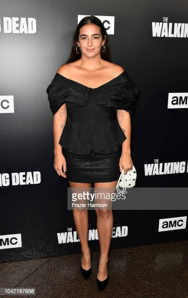 Alanna Masterson attends the Premiere of AMC's 'The Walking Dead' Season 9 at DGA Theater on September 27 2018 in Los Angeles California