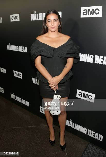Alanna Masterson attends The Walking Dead Premiere and After Party on September 27 2018 in Los Angeles California