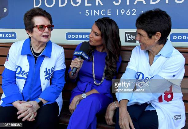 Alanna Rizzo with the Los Angeles Dodgers broadcast team on SportsNew LA talks to the newest members of the team's ownership group Billie Jean King...