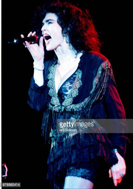 Alannah Myles performing on stage at Town Country Club Kentish Town London 08 January 1991