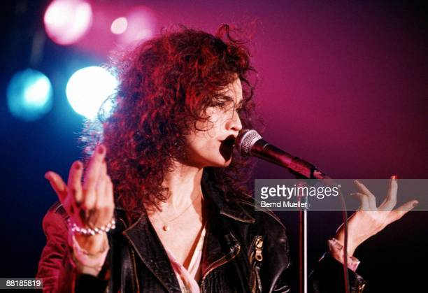 Alannah Myles performs on stage at the Wappensaal in Munich Germany in 1996