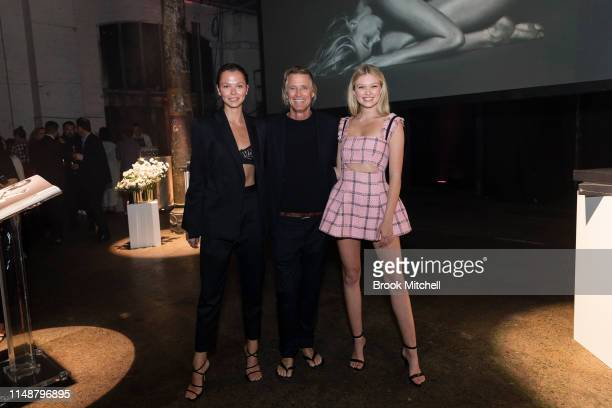 Alannah Walton Russell James and Maggie Laine attend the Angels by Russell James Australian Book Launch during MercedesBenz Fashion Week Resort 20...