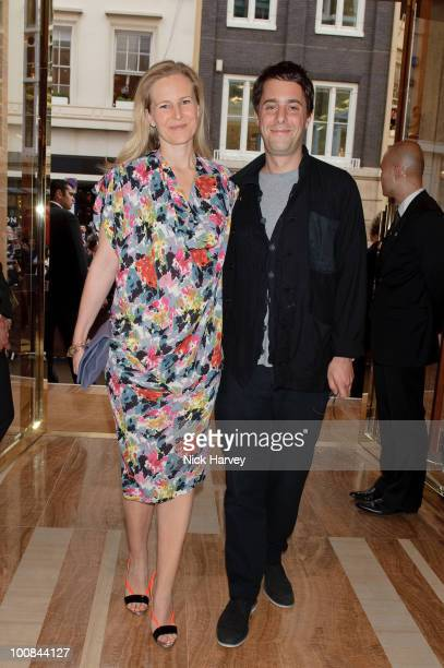 Alannah Weston and Alex Cochrane attend the launch of the Louis Vuitton Bond Street Maison on May 25 2010 in London England