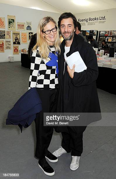 Alannah Weston and Alex Cochrane attend the VIP preview of the annual Frieze Art Fair in Regent's Park on October 16 2013 in London England