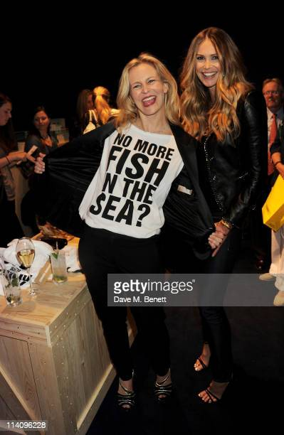 Alannah Weston and model Elle Macpherson attend the launch of Project Ocean at Selfridges on May 11 2011 in London England
