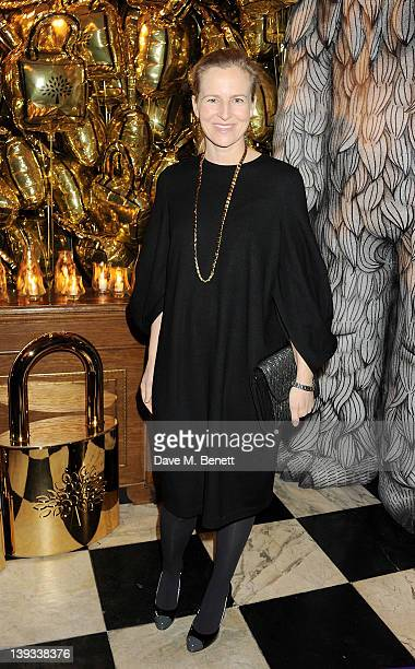 Alannah Weston attends a dinner following the Mulberry Autumn/Winter 2012 show during London Fashion Week at The Savile Club on February 19 2012 in...