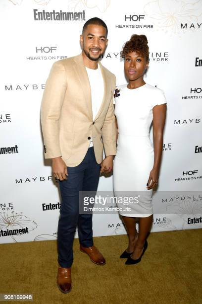 Alano Miller and DeWanda Wise attend Entertainment Weekly's Screen Actors Guild Award Nominees Celebration sponsored by Maybelline New York at...