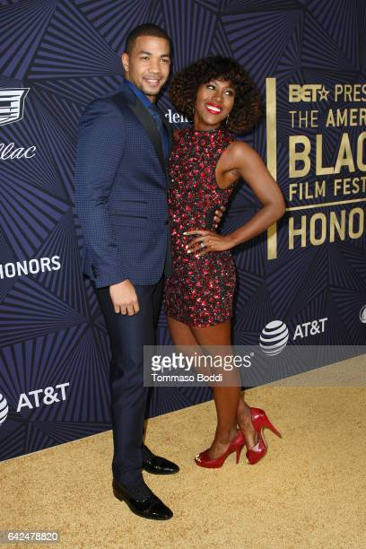 Alano Miller and DeWanda Wise attend the BET's 2017 American Black Film Festival Honors Awards at The Beverly Hilton Hotel on February 17 2017 in...