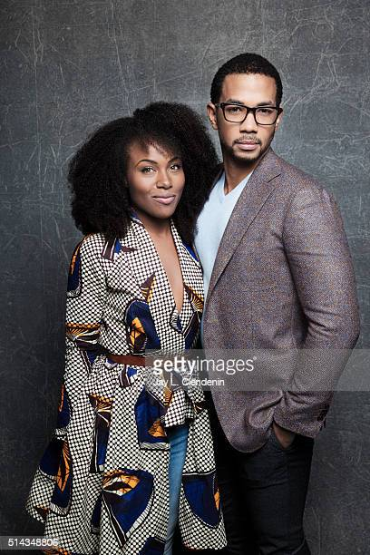 Alano Miller and Dewanda Wise from the film 'How To Tell You're A Douchebag' pose for a portrait at the 2016 Sundance Film Festival on January 25...