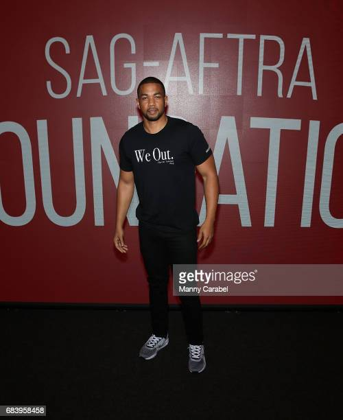Alano Miller attends SAGAFTA Foundation Coversations with Aisha Hinds Alano Miller Amirah Vann and DeWanda Wise of 'Underground' at SAGAFTRA...