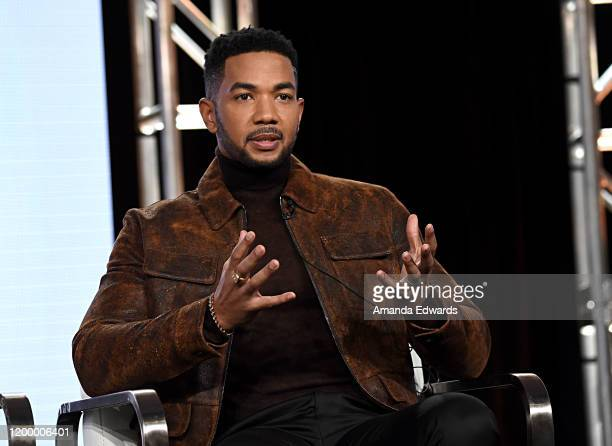 Alano Miller of 'Cherish The Day' speaks onstage during the OWN Oprah Winfrey Network portion of the Discovery Inc TCA Winter Panel 2020 at The...