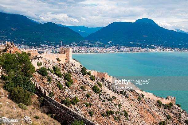 Alanya Castle walls and coastline