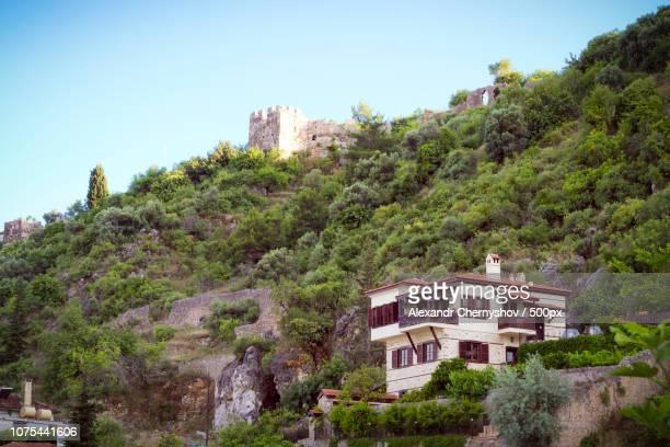 Alanya's old city and castle Kizil Kule, Turkey