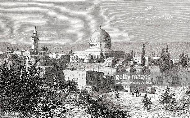 AlAqsa Mosque In The Old City Of Jerusalem Palestine As It Was In The 19Th Century From El Mundo En La Mano Published 1875