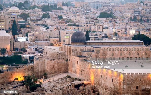 al-aqsa mosque, temple mount, jerusalem, israel - temple mount stock pictures, royalty-free photos & images
