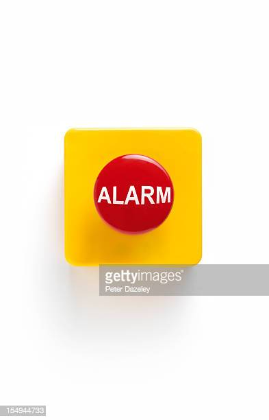 Alarm button on white background