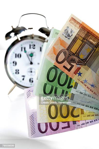 Alarm clock and Euro notes