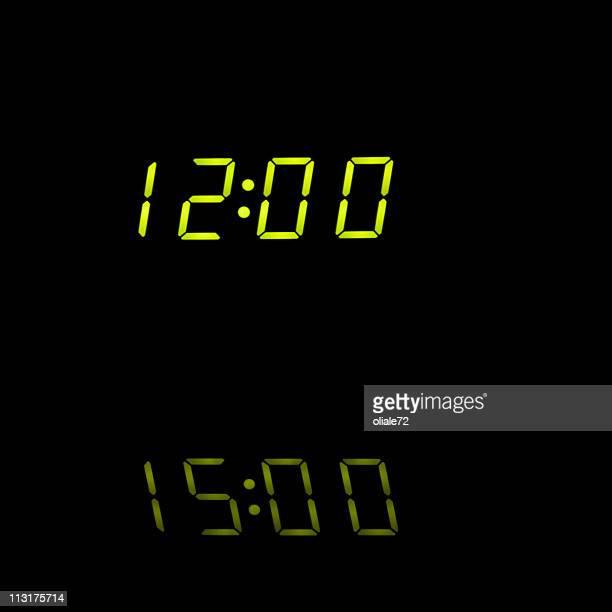 Alarm Clock Closeup - Midnight, Black Background