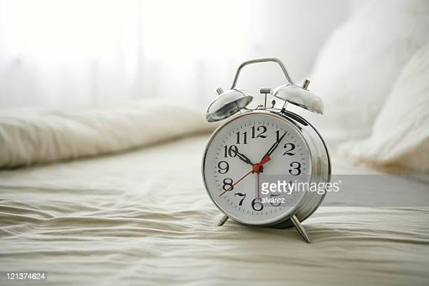 Alarm Clock on bed