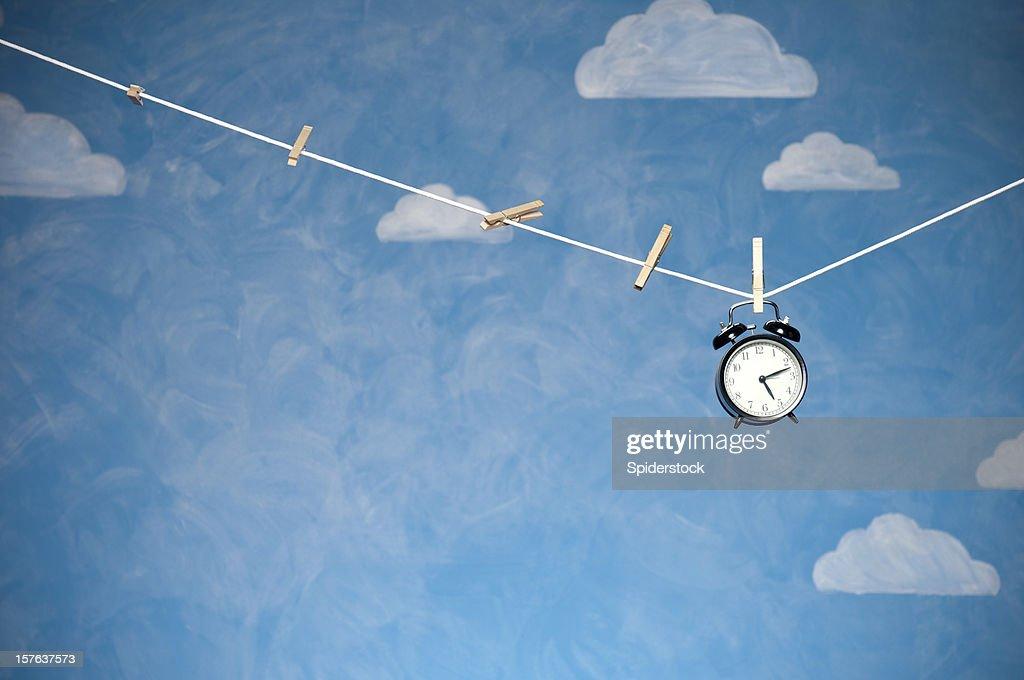 Radio-réveil sur la Corde à linge : Photo