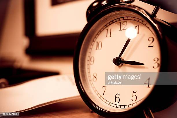 alarm clock - daylight saving time stock pictures, royalty-free photos & images