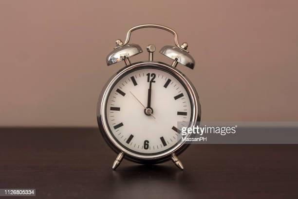 Alarm clock set at noon