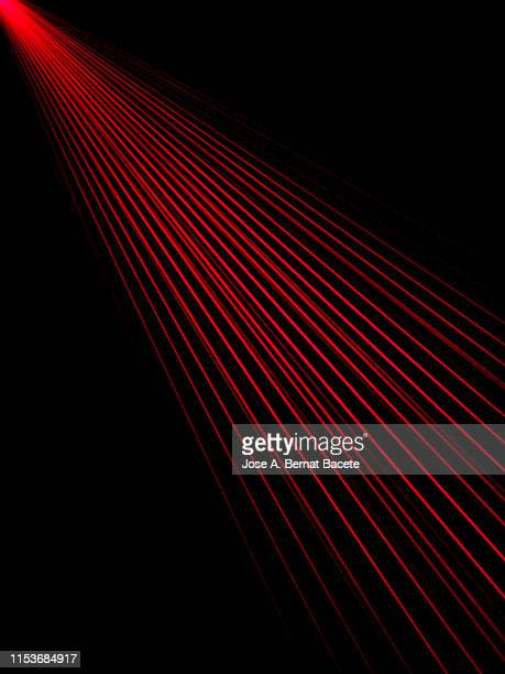 alarm of beams laser. - laserlicht stock-fotos und bilder