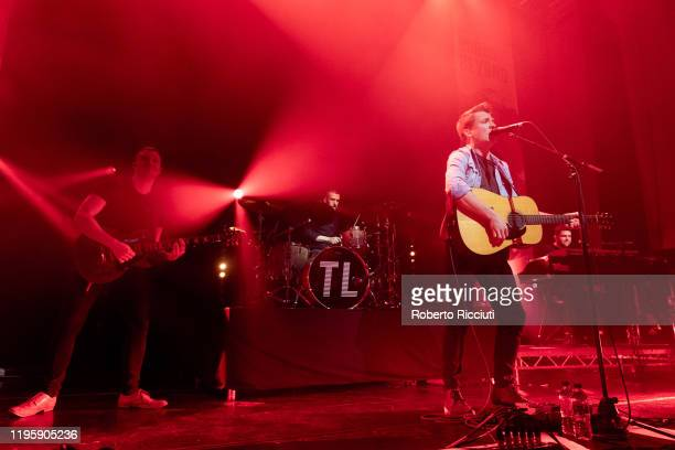 "Alasdair Turner, Fergus Munro, Robert Robertson and Ross Wilson of Tide Lines perform on stage at Assembly Rooms as part of the ""Burns and Beyond""..."