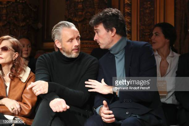 Alasdhair Willis and Antoine Arnault attend the Stella McCartney show as part of the Paris Fashion Week Womenswear Fall/Winter 2020/2021 on March 02...