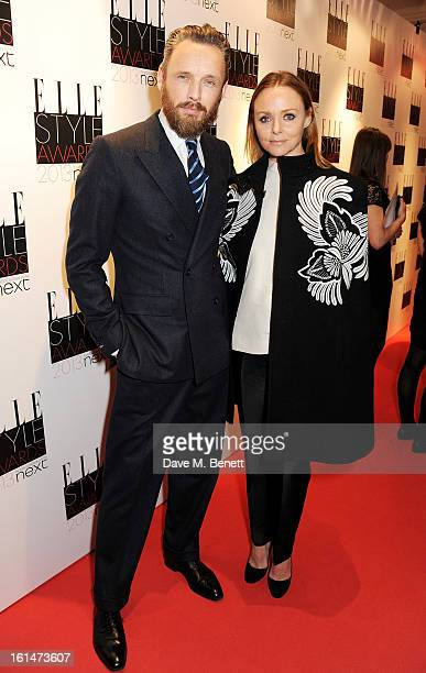 Alasdhair Willis and Stella McCartney arrive at the Elle Style Awards at The Savoy Hotel on February 11 2013 in London England