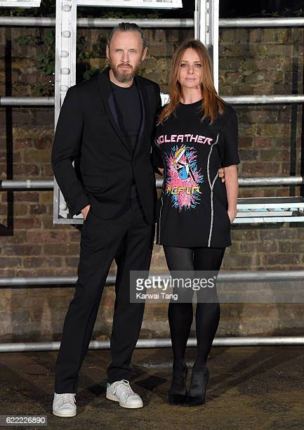 Alasdhair Willis and Stella McCartney arrive for the Stella McCartney Resort collection and menswear launch at Abbey Road Studios on November 10 2016...