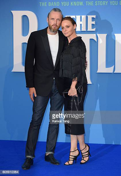 Alasdhair Willis and Stella McCartney arrive for the World premiere of 'The Beatles Eight Days A Week The Touring Years' at Odeon Leicester Square on...