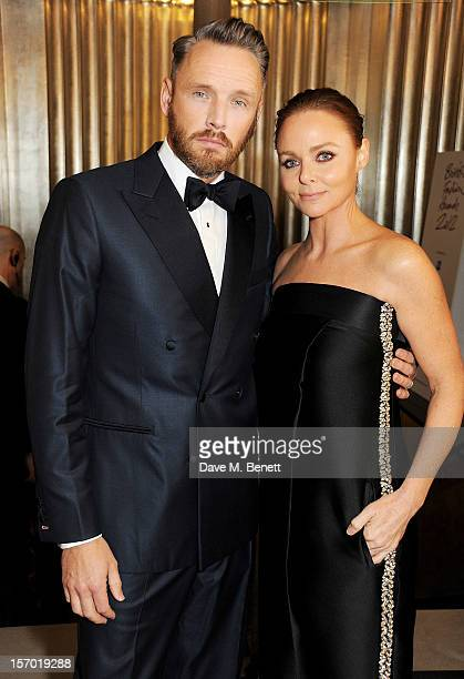 Alasdhair Willis and Stella McCartney attend a drinks reception at the British Fashion Awards 2012 at The Savoy Hotel on November 27 2012 in London...