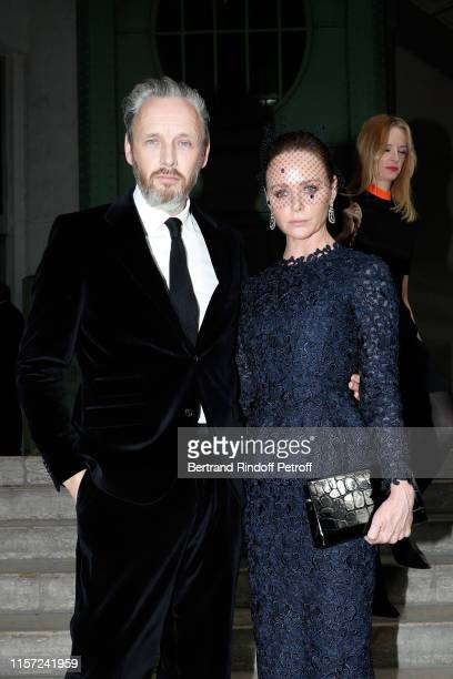 """Alasdhair Willis and Stella McCartney attend """"Karl for Ever"""" Tribute to Karl Lagerfeld at Grand Palais on June 20, 2019 in Paris, France."""