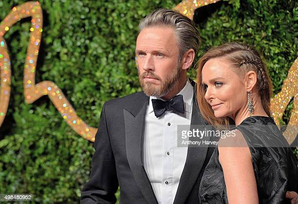 Alasdhair Willis and Stella McCartney attend the British Fashion Awards 2015 at London Coliseum on November 23 2015 in London England