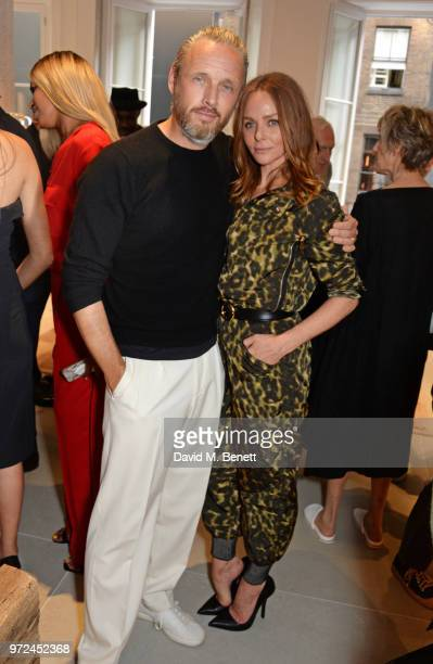 Alasdhair Willis and Stella McCartney attend the launch of the Stella McCartney Global flagship store on Old Bond Street on June 12 2018 in London...