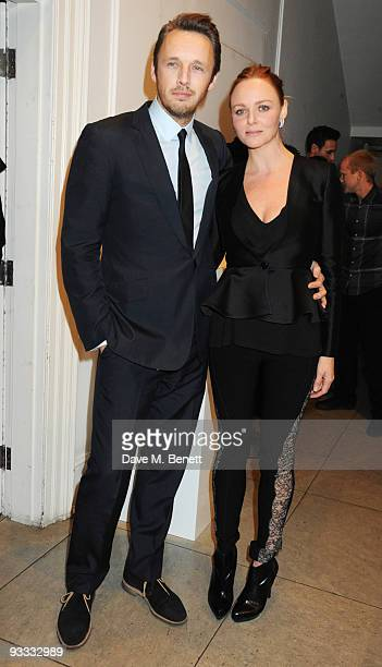 Alasdhair Willis and Stella McCartney attend the Stella McCartney Christmas party as the Stella McCartney Store switches on its Christmas lights on...