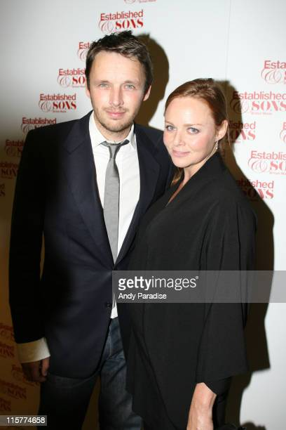 Alasdhair Willis and Stella McCartney during Established Sons First Birthday VIP Party Inside in London Great Britain