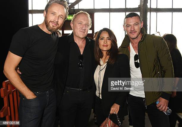 Alasdhair Willis Hunter creative director Francois HenriPinault Salma Hayek and Luke Evans attend the Hunter Original Spring/Summer 2016 Collection...