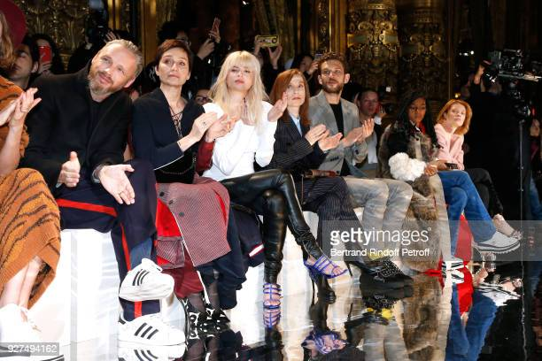 Alasdhair Willis Kristin Scott Thomas Cecile Cassel Isabelle Huppert Arnaud Valois Selah Marley and Melanie Thierry attend the Stella McCartney show...